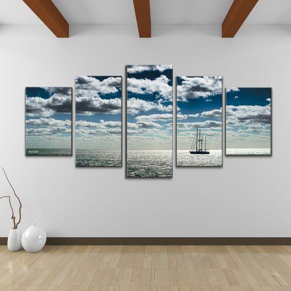 Bruce Bain u0027Shipu0027 5-piece Set Canvas Wall Art - Overstock Shopping - & Bruce Bain u0027Shipu0027 5-piece Set Canvas Wall Art - Overstock Shopping ...