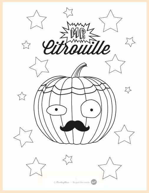 Colorier une citrouille pour halloween coloriage halloween monkeychoo halloween font et - Coloriage sympa ...