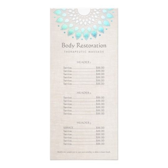 Blue Lotus Health and Wellness Price List Menu | Pinterest | Price list