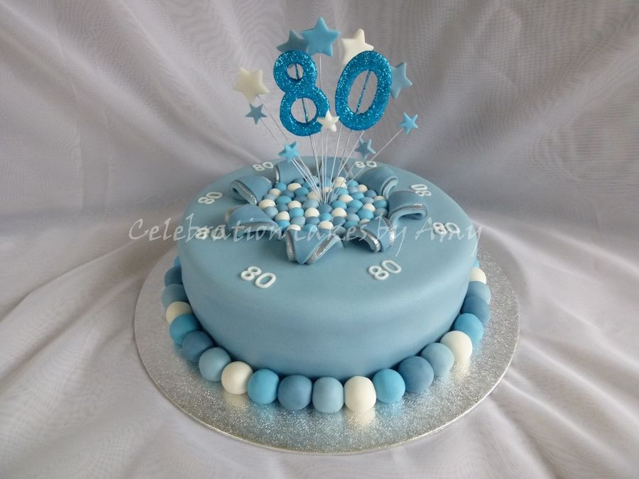 Mens 80Th Birthday Cake On Central