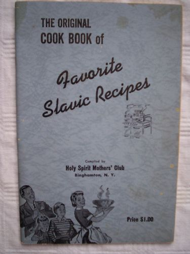 Vintage Holy Spirit Byzantine Catholic Church Cookbook Biinghamton