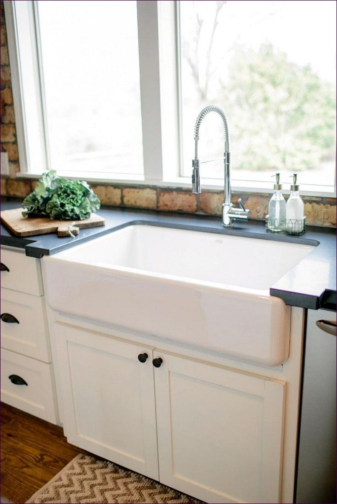 Kitchen Room:Magnificent 25 Inch Apron Front Sink Long Farmhouse Sink  Porcelain Farmhouse Kitchen Sink