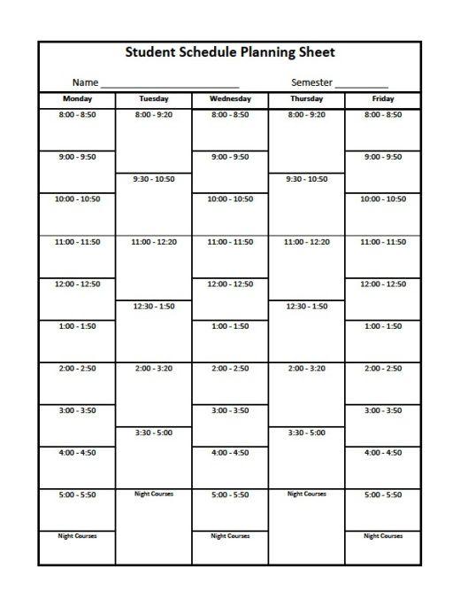 schedule organizer