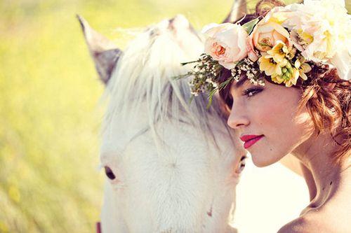 horse x flowers