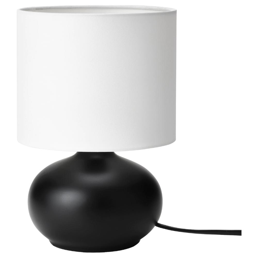 Tvarfot Table Lamp Black White In 2020 Black Table Lamps