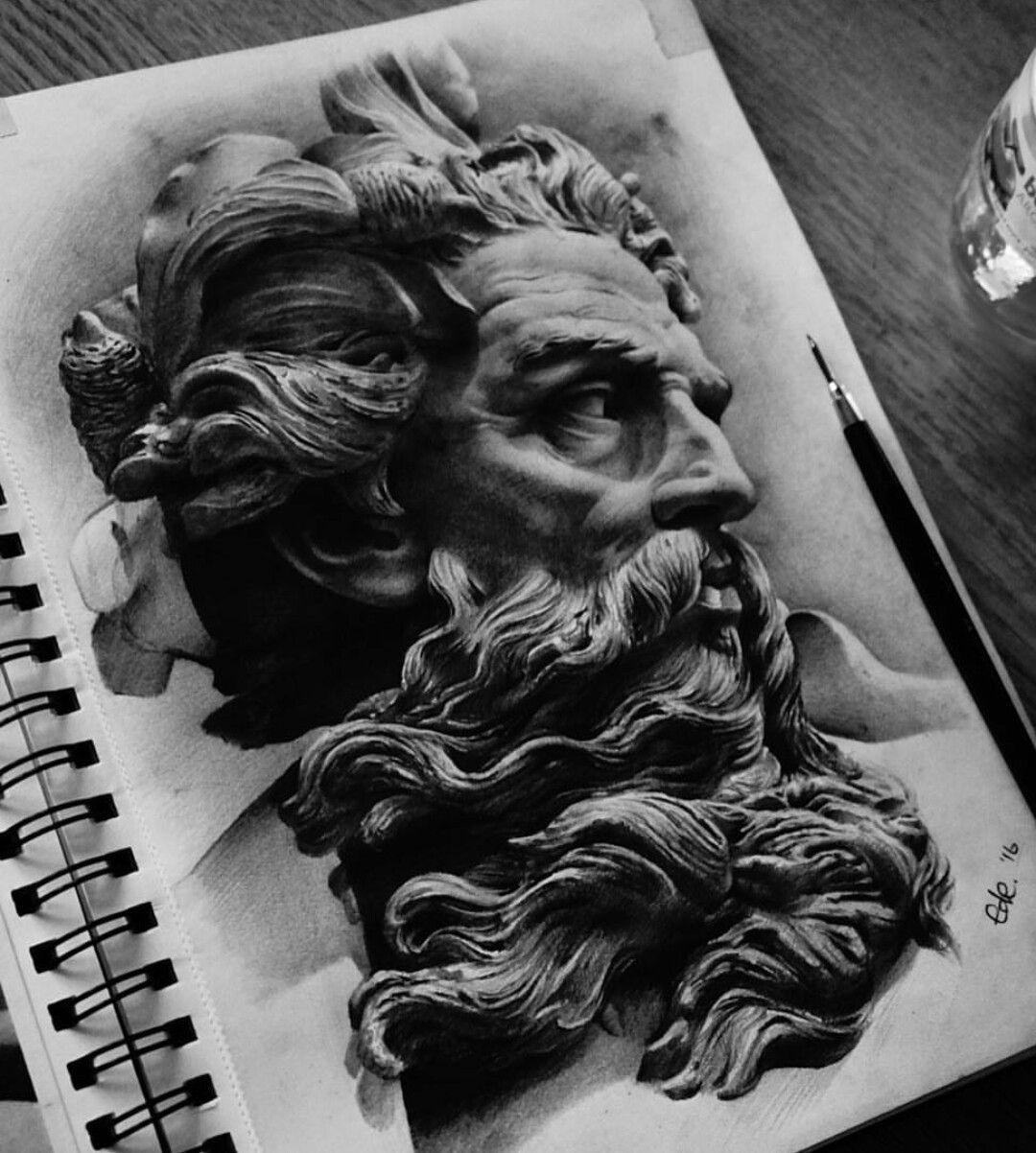 Pin By Shahd Esmail On Art Zeus Tattoo Sleeve Tattoos Greek Tattoos