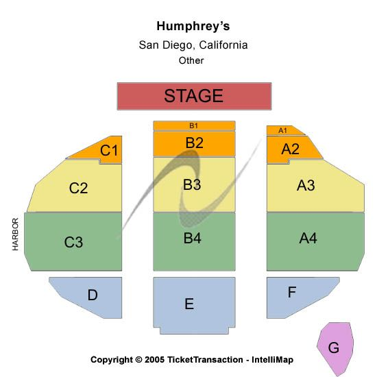 Humphreys concerts by the bay seating chart other section a3 row