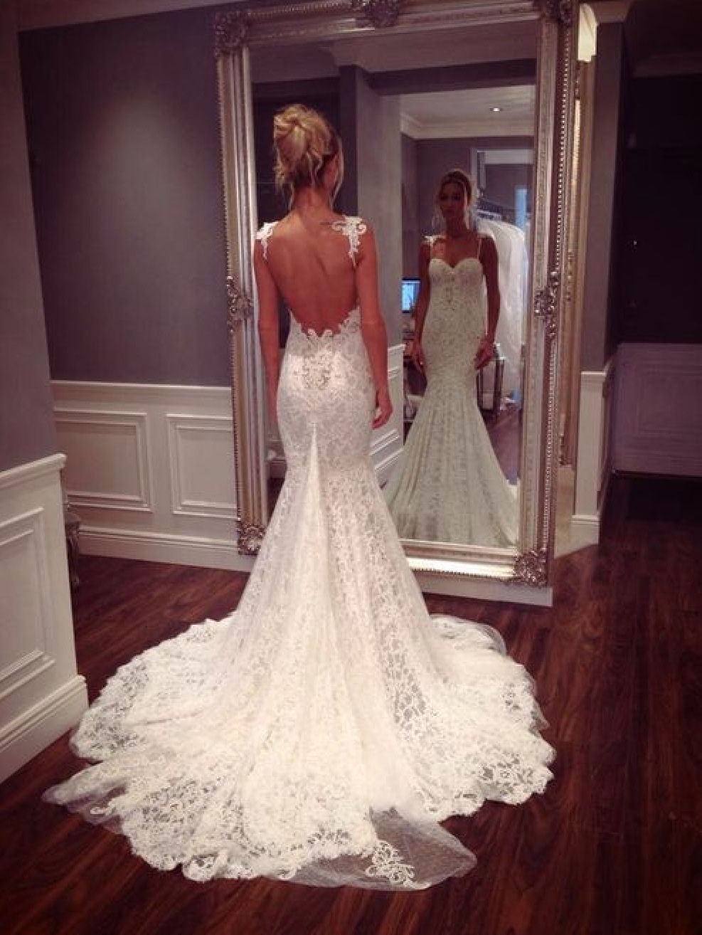 Low back dresses -pictures - Weddingbee | Wedding Ideas | Pinterest ...