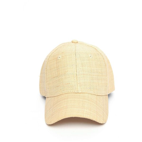 502c7a00a7396 San Diego Hat Co. Woven Straw Baseball Hat ( 28) ❤ liked on Polyvore  featuring accessories