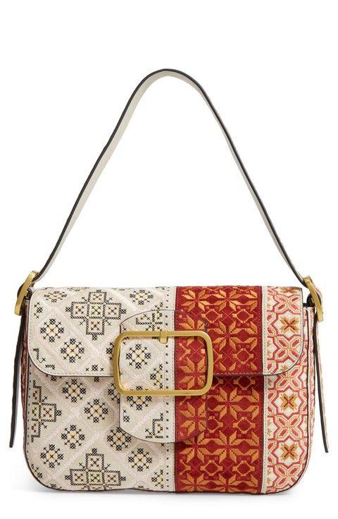 dc2dba882fb9 Tory Burch Sawyer Embroidered Shoulder Bag