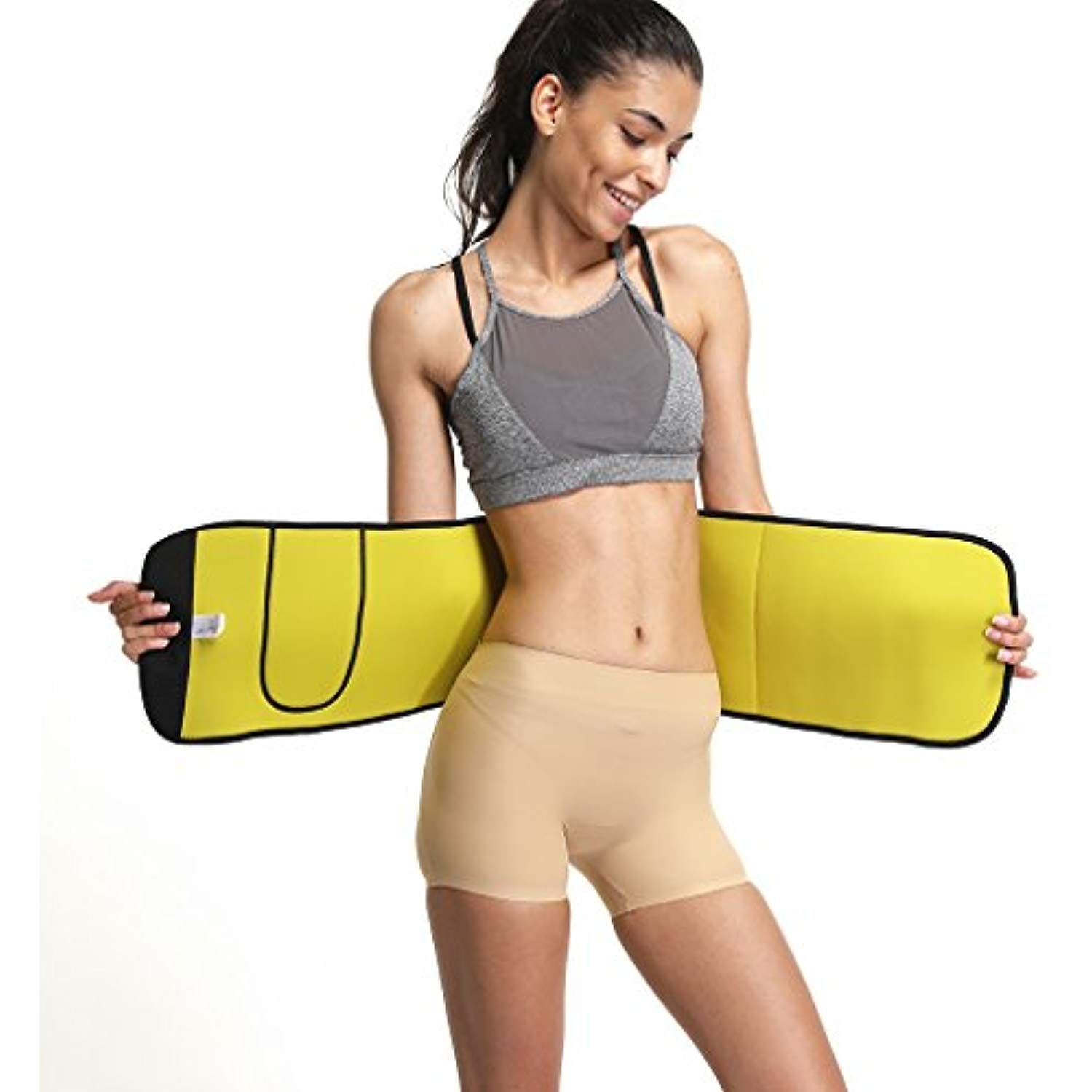 fe737603ae Waist Trimmer Belt Stomach Shaper for Women Men Adjustable Belly Band Wraps  for Weight Loss Sweat