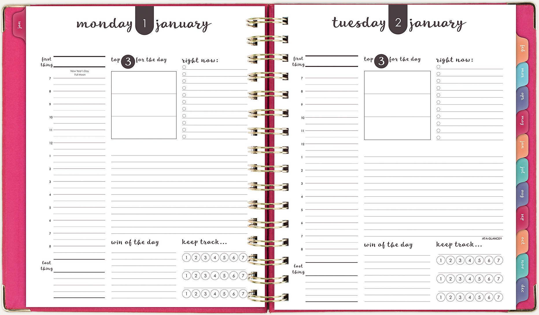 Harmony Hardcover Daily Monthly Planner 6099 806 At A