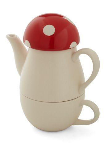 Mushroom tea set