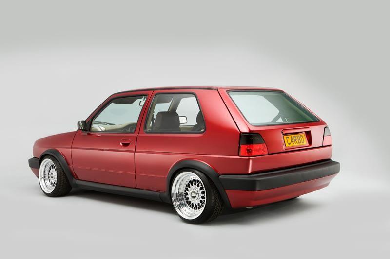 MK2 VW GTI with ultrawide BBS wheels.