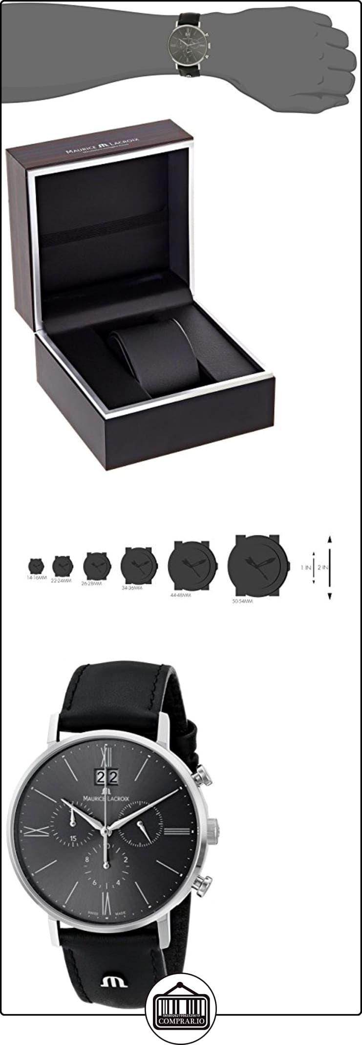 Maurice Lacroix de cuero de los hombres el1088 - SS001 -810 Eliros animación analógico de cuarzo reloj de pulsera  ✿ Relojes para hombre - (Lujo) ✿
