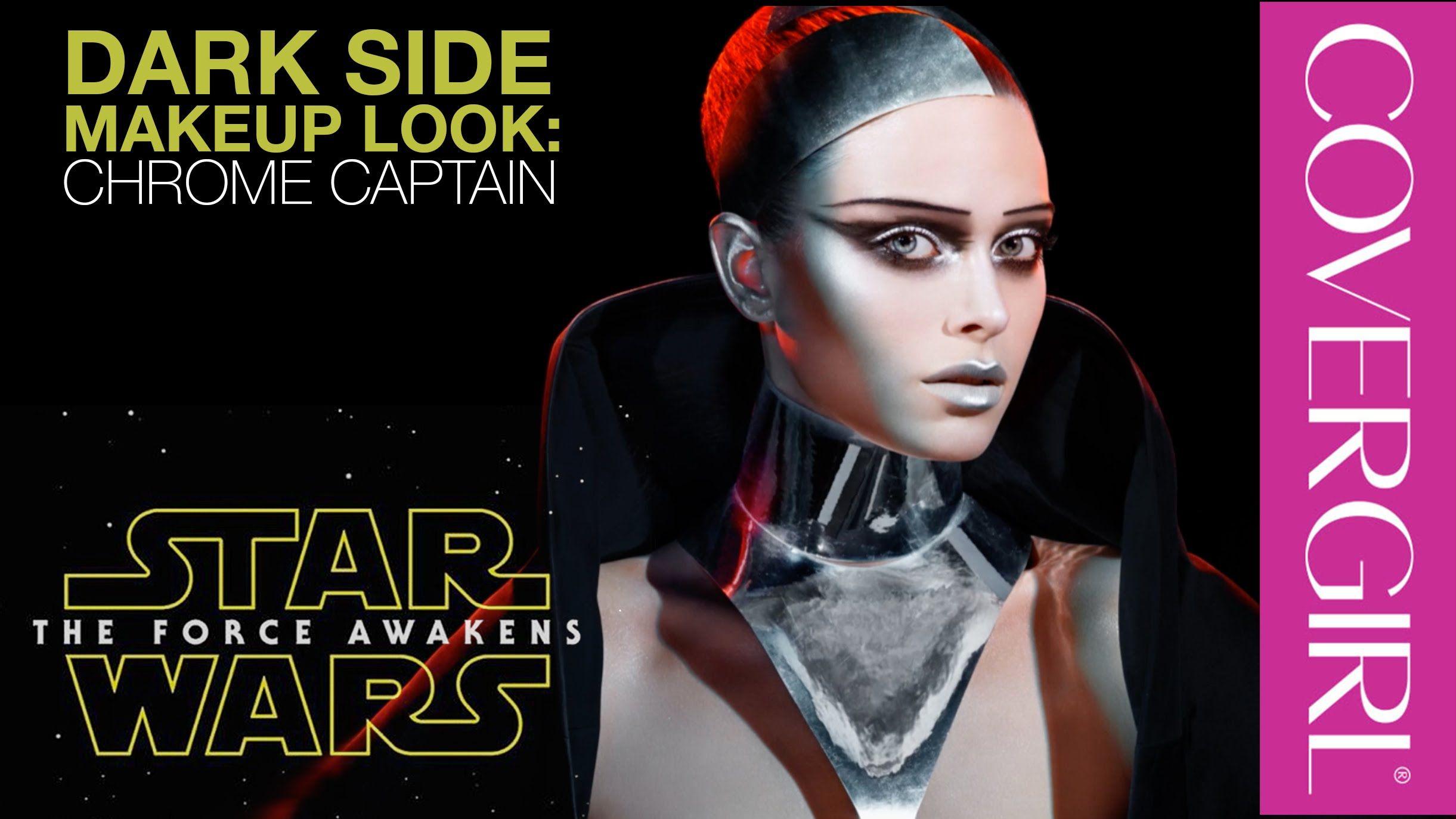 Star Wars Makeup Looks Dark Side s Chrome Captain by Pat McGrath