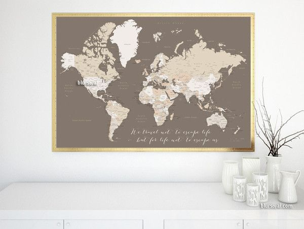 Custom quote printable world map with cities capitals countries custom quote printable world map with cities capitals countries us states gumiabroncs Gallery