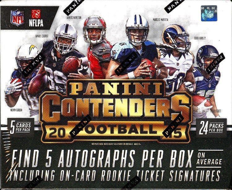 2015 panini contenders football hobby 12 box case blowout