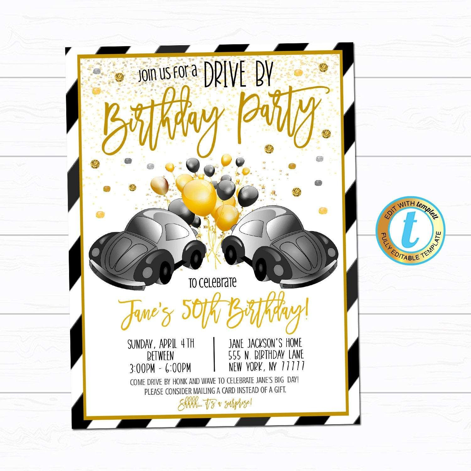 Pin on Drive By Parade Party Invitations