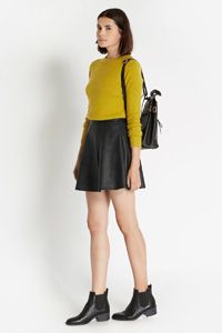 11d063289b69 Bailey Faux Leather Skater Leather Look Skirts, Oasis Fashion, Fashion  Sale, Fashion Clothes