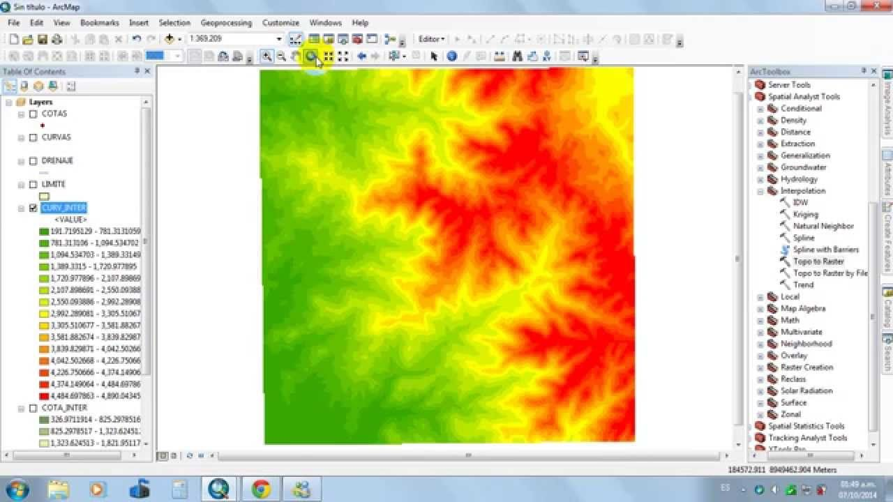 how to make a topographic map in arcgis