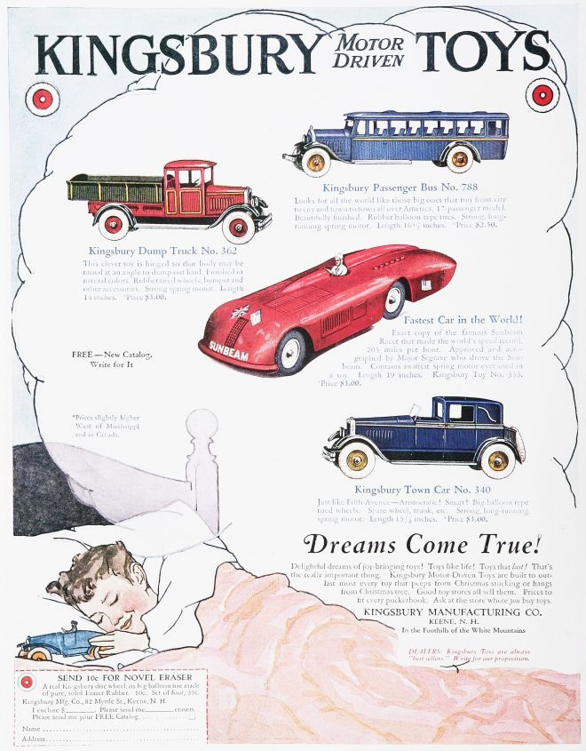 Vintage Toy Advertisements Of The 1920s Toy Cars Were Built Better