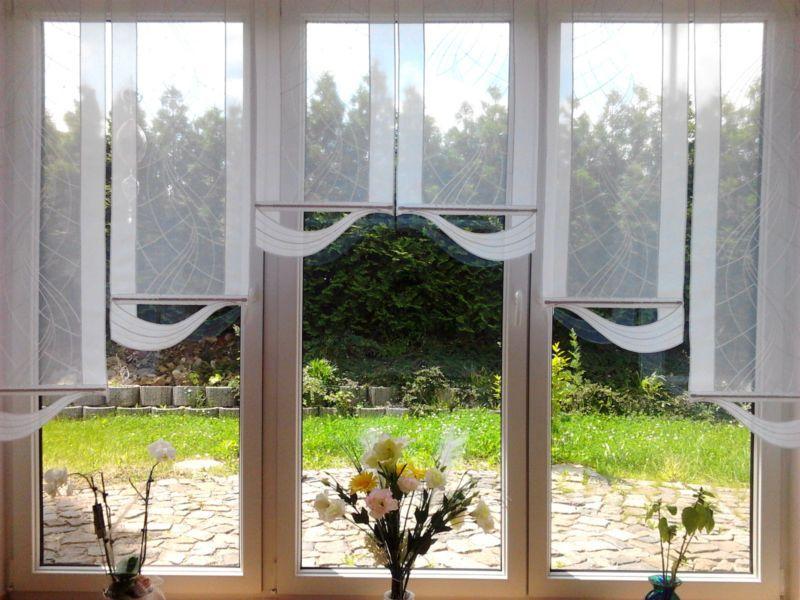 details zu lp schlaufenschal vorhang gardine gardinenschal schlaufen blumen gr n140x145cm. Black Bedroom Furniture Sets. Home Design Ideas