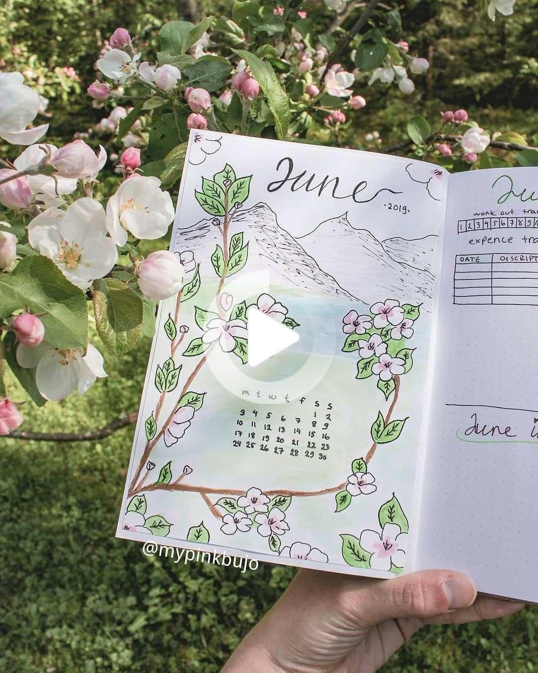 120 Amazing June Bullet Journal Monthly Cover Page Ideas