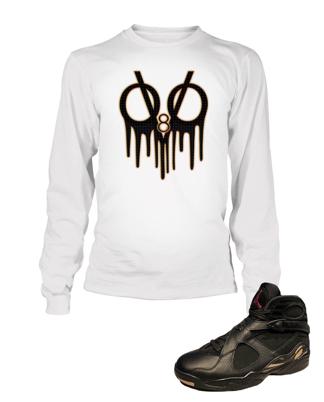 3454ee167aae28 Drake Tribute Graphic T Shirt to Match Retro Air Jordan 8 OVO Shoe ...