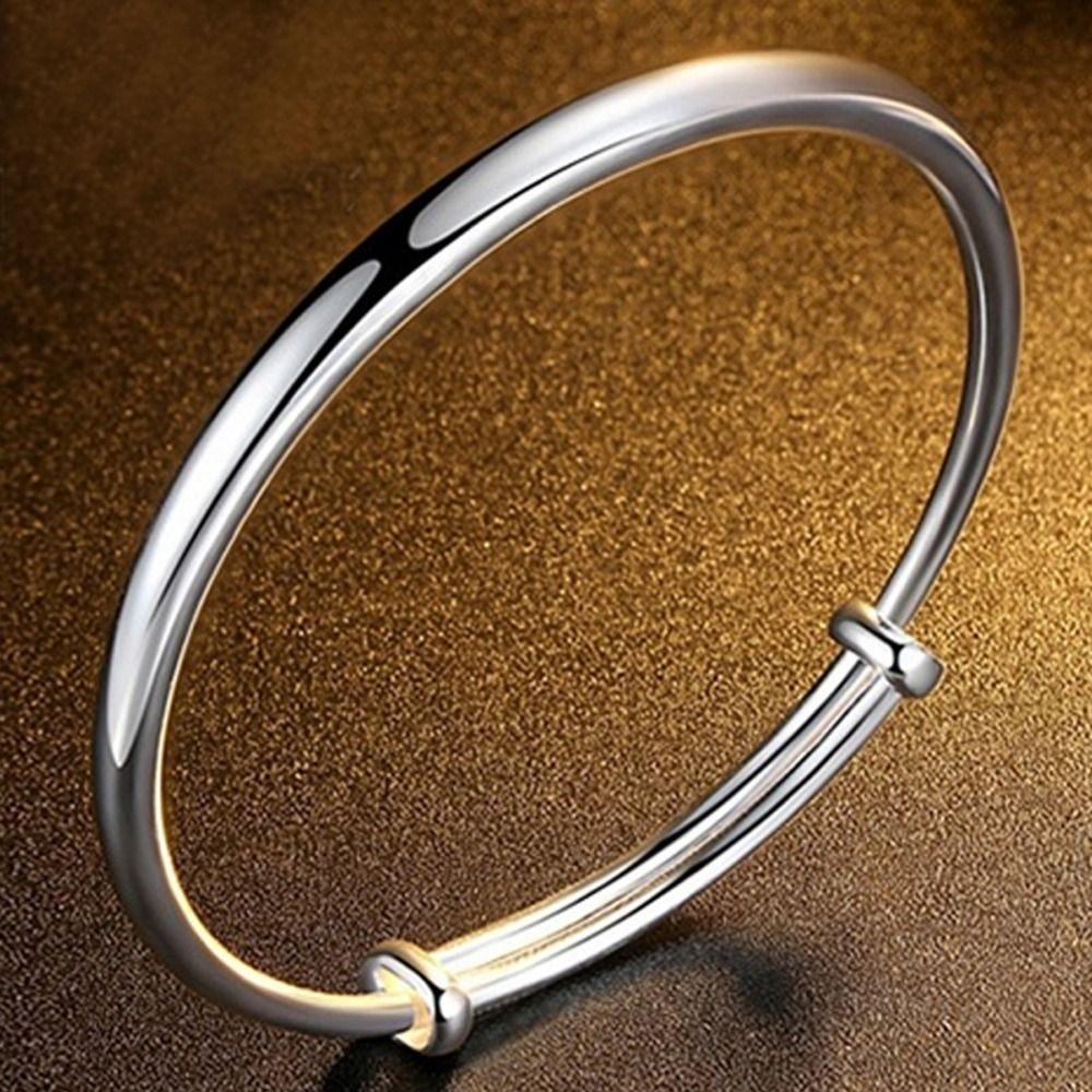 Silver plated light allmatch simple bracelet women love bracelet