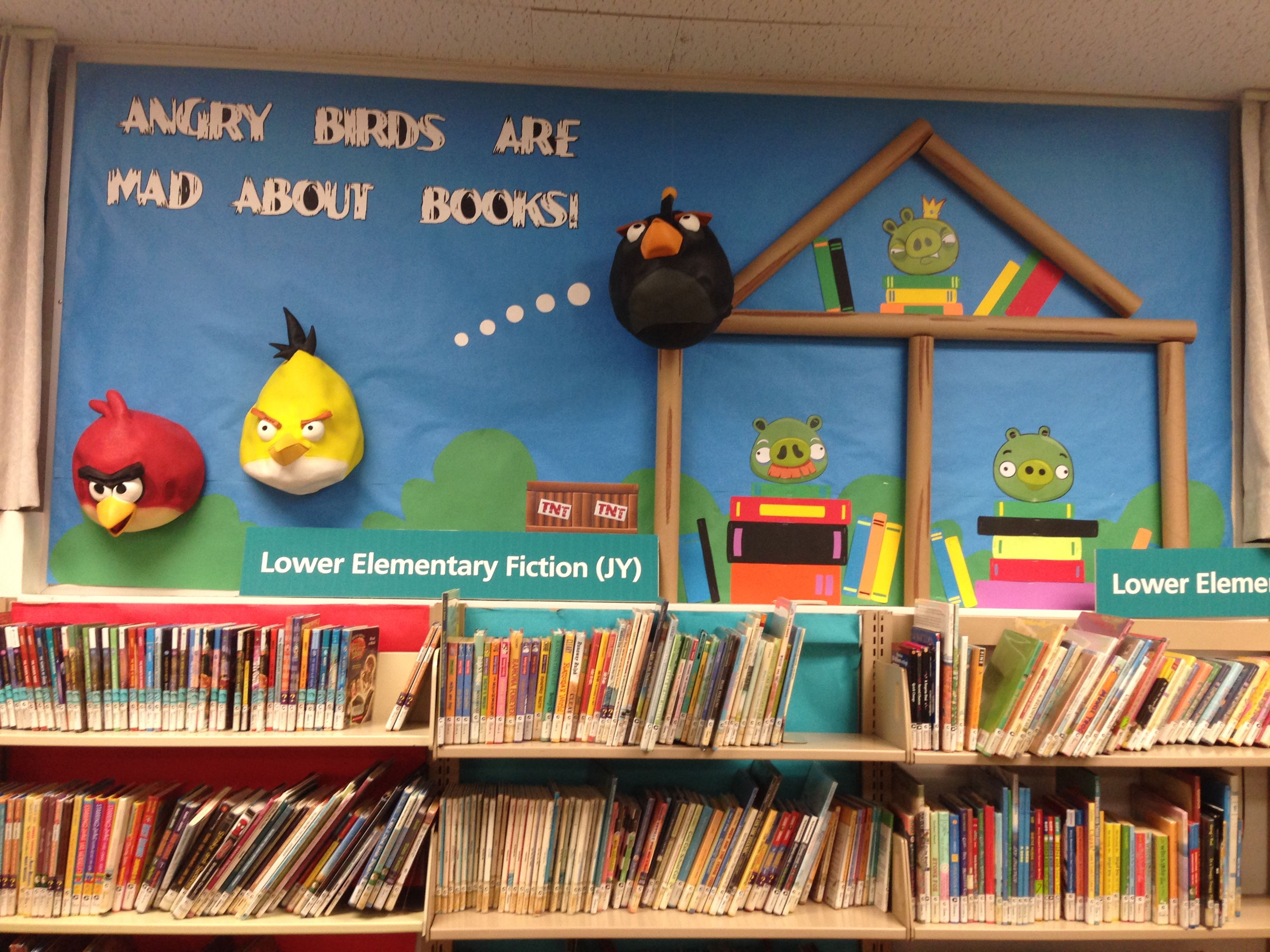 Angry Birds Library Bulletin Board