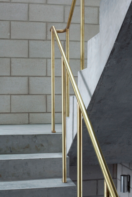 Simple And Super Stylish Brass Handrail And Bannister Stairs