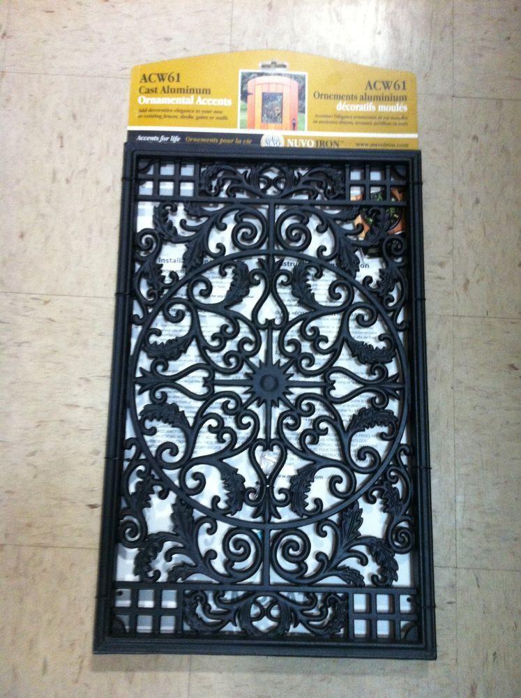 Nuvo Iron Acw61 Cast Aluminum Ornamental Fence Gate Accent