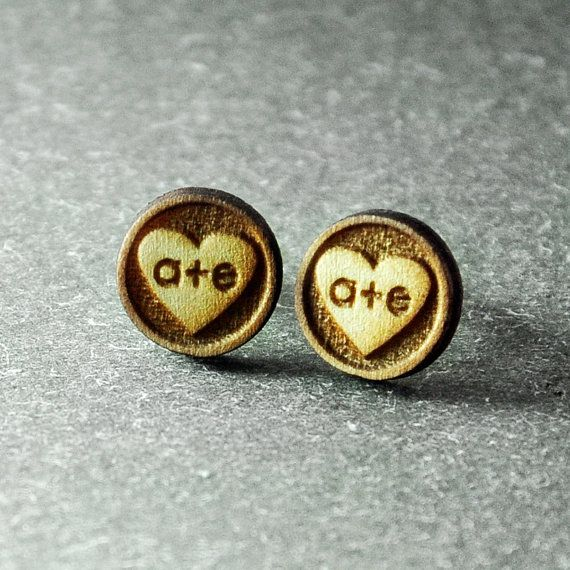 Stud Earrings Wood Earrings Rustic Earrings Rustic by IndigoandIvy, $17.99