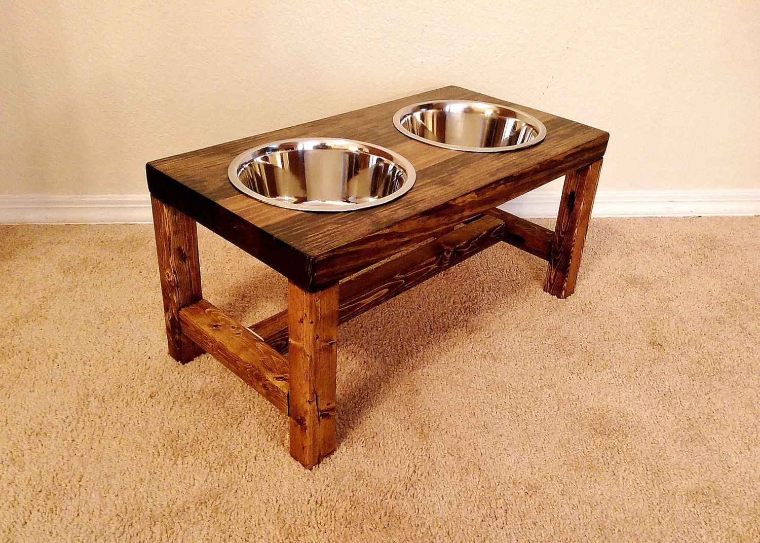 Check out this farmhousestyle elevated dog feeder great