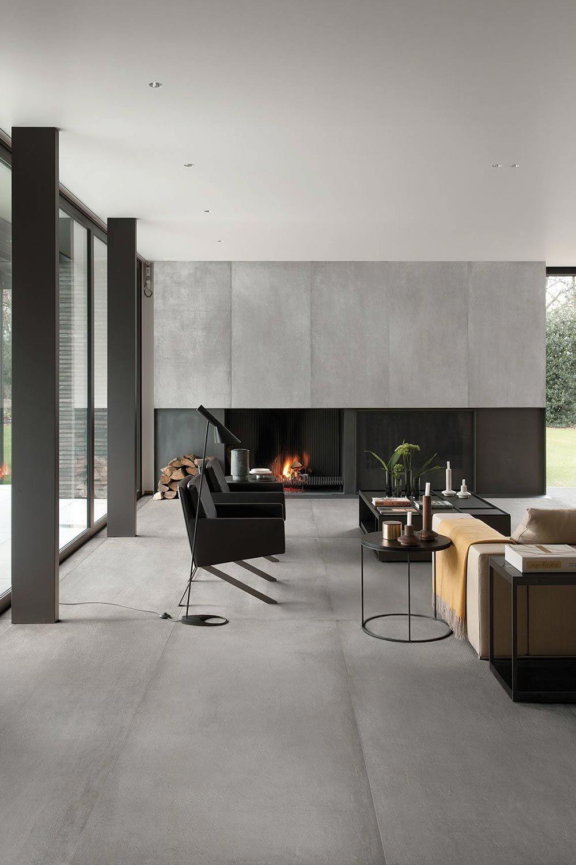Modernes Wohnen im #Industrial #Style  Fliesen wohnzimmer