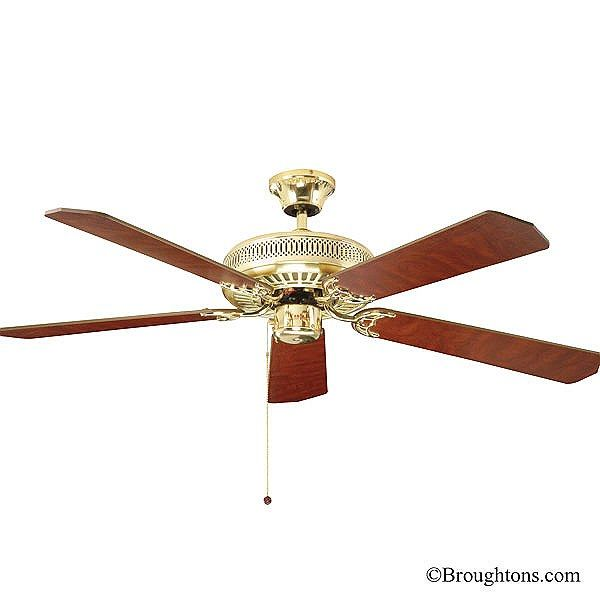 Fantasia Classic 52 Ceiling Fan Polished Brass Ceiling Fan 52