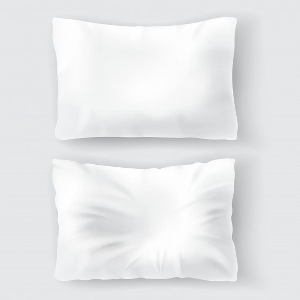 Set With Blank White Pillows Comfortable Soft Clean And Crumpled Paid Sponsored Sponsored White Blank Clean White Pillows Pillows Blank White