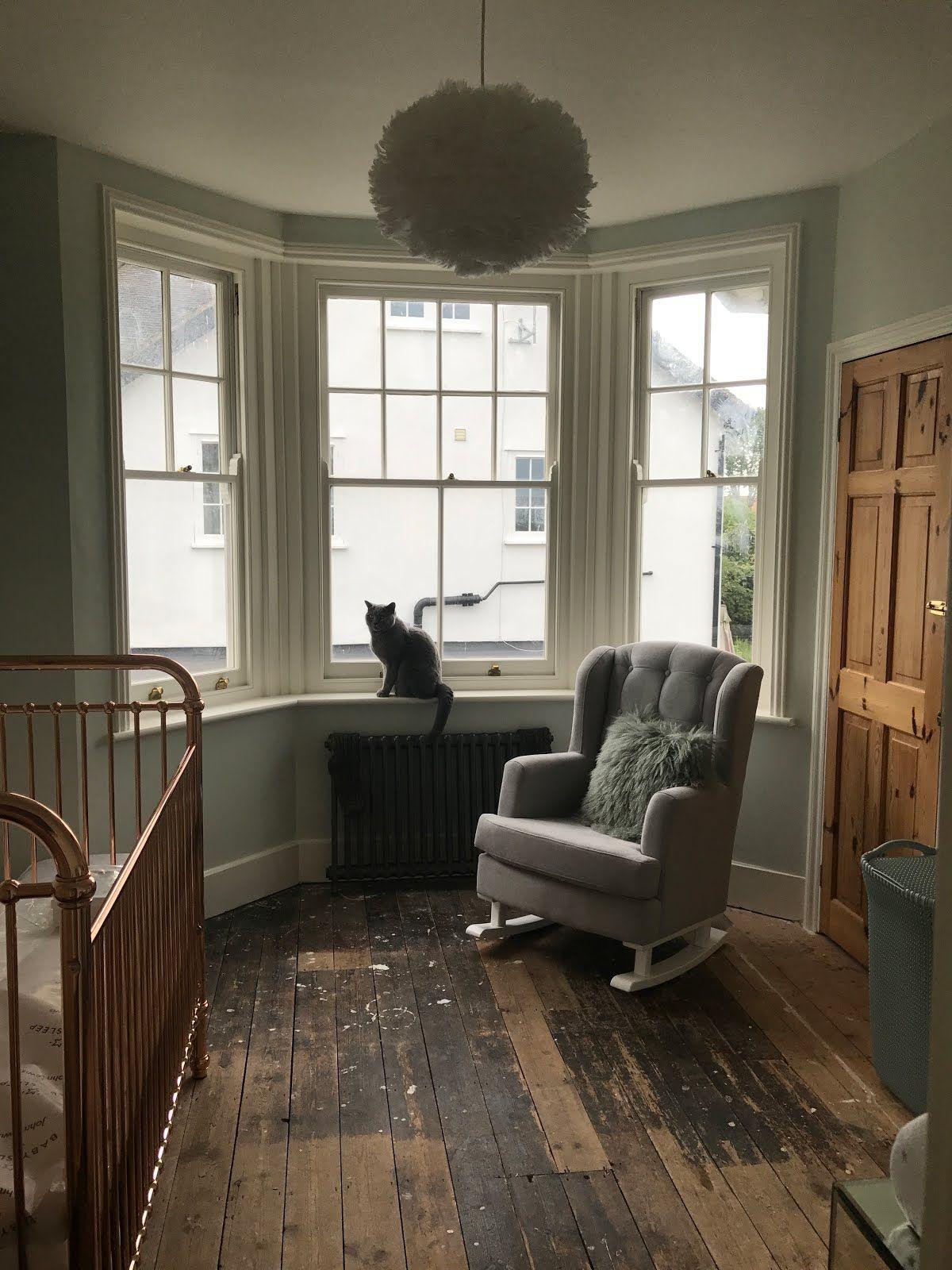 Nursery / Rose Gold Cot / Grey Nursing Chair / Rocking Chair / Vita Eos  Feather