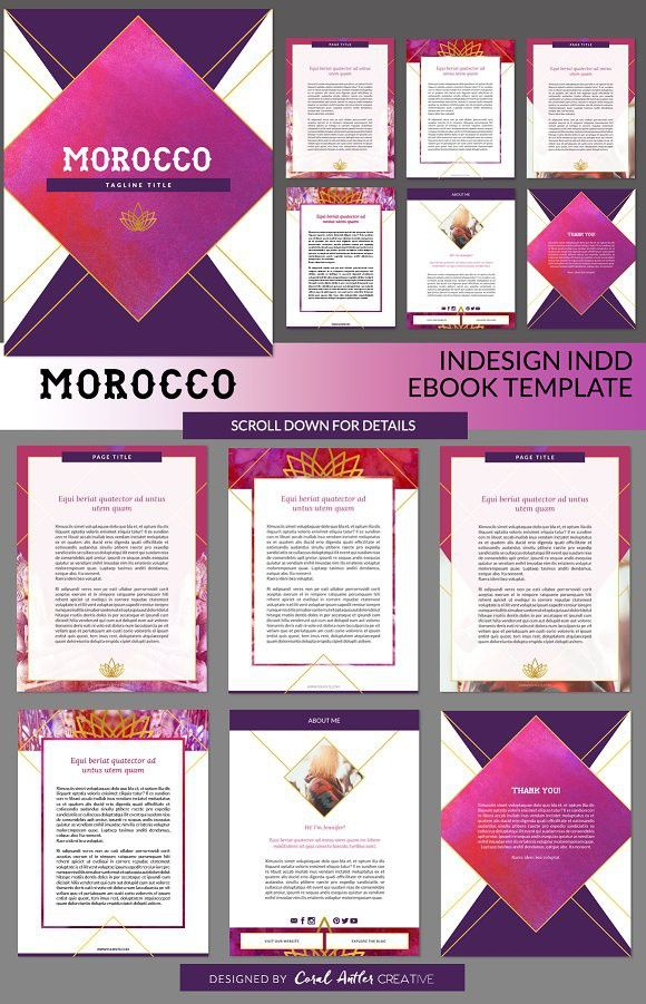 Modern Gypsy InDesign Ebook Template | Template and Presentation design