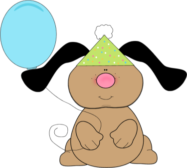 Image result for birthday dog clipart