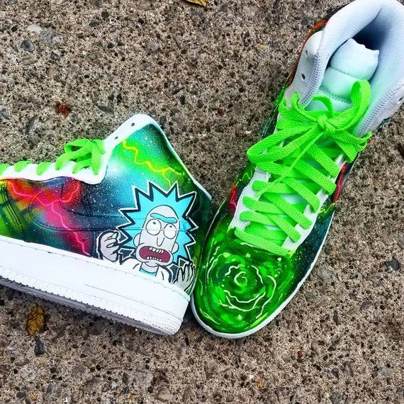 finest selection 5d6c1 2858c Rick and Morty nike air force one custom | Products in 2019 ...