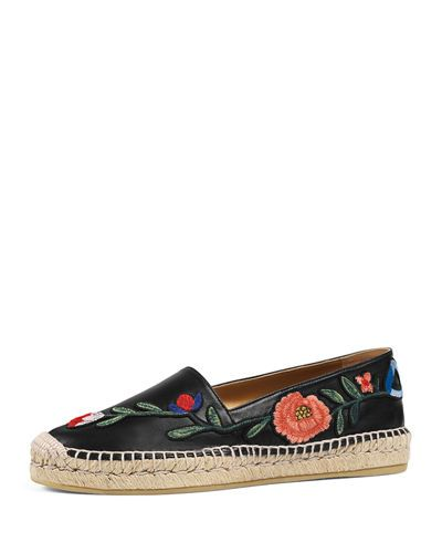 4d51b3fa1b3 GUCCI PILAR EMBROIDERED ESPADRILLE FLAT.  gucci  shoes