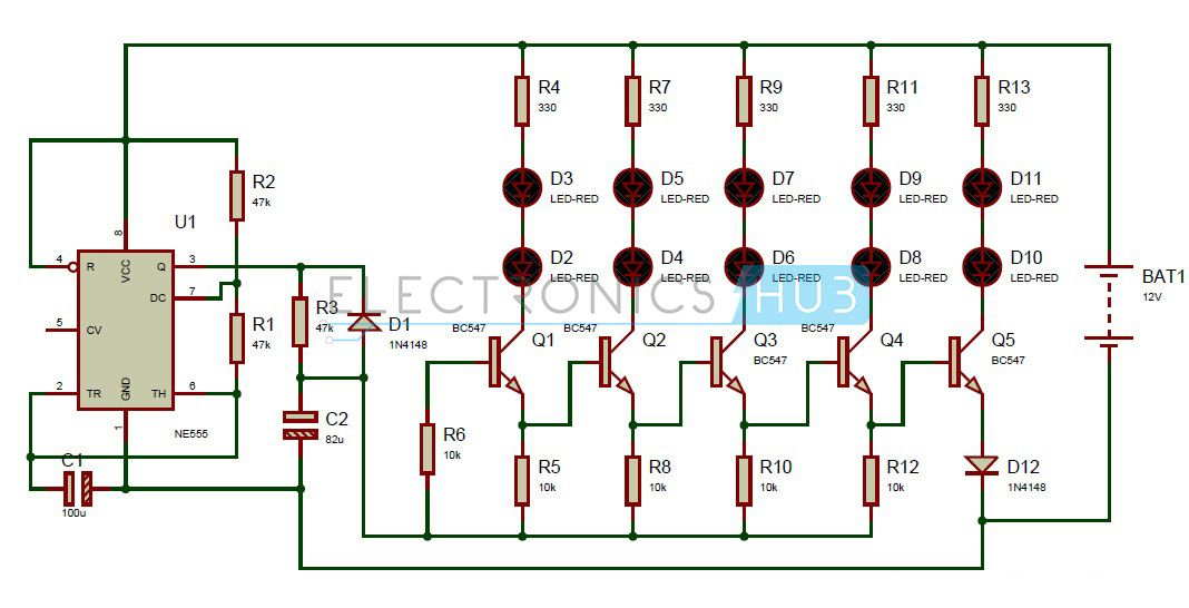 bike turning signal indicator circuit using 555 timer circuit Police Lights Wiring Diagram bike turning signal indicator circuit using 555 timer police light wiring diagram