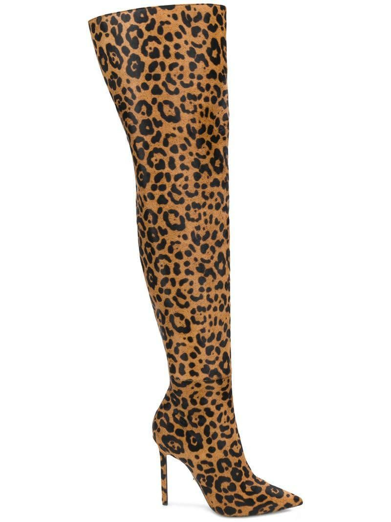 over the knee animal print boots