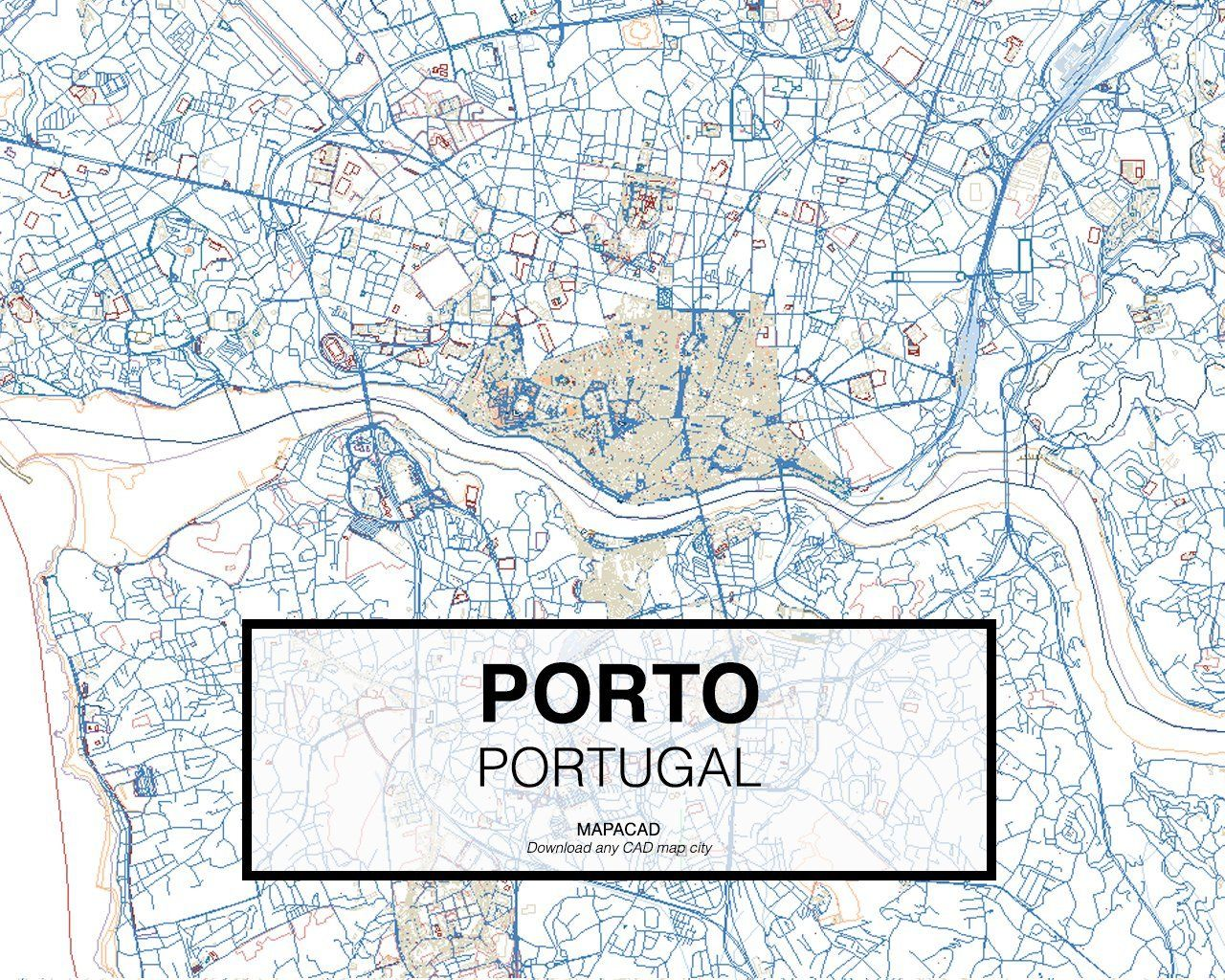 Porto portugal 01 mapacad download map cad dwg dxf autocad free 2d porto portugal 01 mapacad download map cad dwg gumiabroncs Gallery