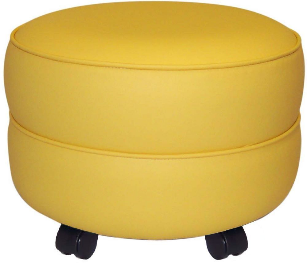 Maybe a bright coloured storage footstool would be practical for the nursery. Not a fan of the daggy castors though - I could change them!