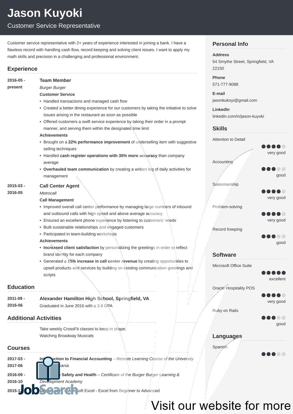 Bank Resume Template 2020 Bank Resume Templates English in