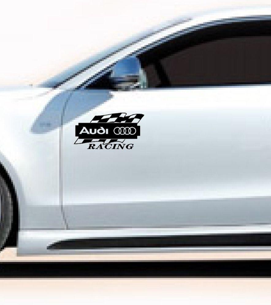 Audi Racing A3 A4 A5 A6 A8 Q3 Q5 Q7 Tt Rs4 S4 Decal Sticker Emblem Logo Blk Pair Audi Emblem Logo Car Decals Stickers [ 995 x 884 Pixel ]