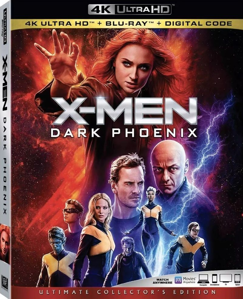 X Men Dark Phoenix Dvd Blu Ray 4k Digital Release Details Announced Dark Phoenix X Men Blu Ray
